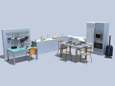 3d kitchen vacuum cleaner