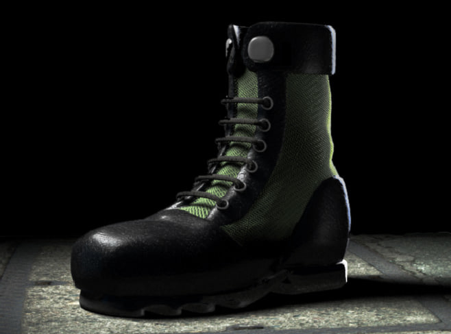 3d model of uniform boot