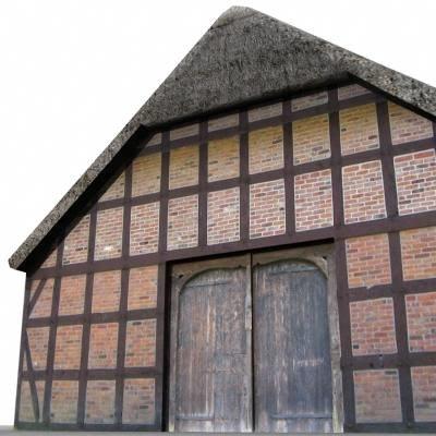 3d model of building barn