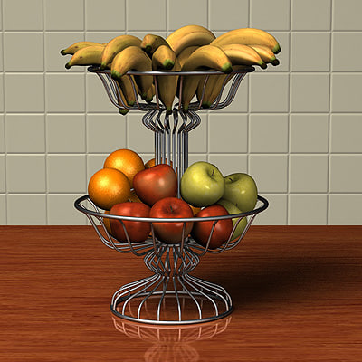 3d model of fruit basket