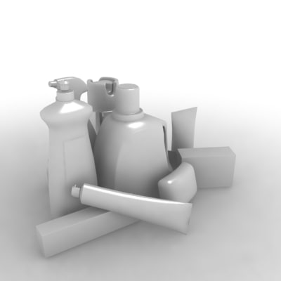 packages cleaning soap spray 3d 3ds