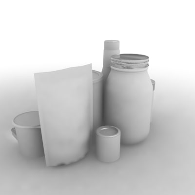 packages pantry 3d model