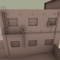 3d model architectural building old town