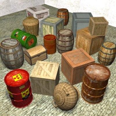 crate barrel 3d model