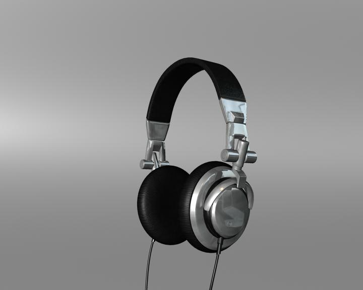 headphones head phone 3d model