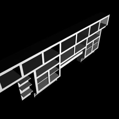 wall shelf 3d max