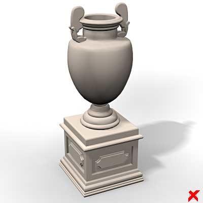 urn vase 3d max