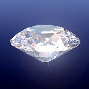 diamond emerald ruby 3d model