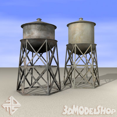 water tower 3d model