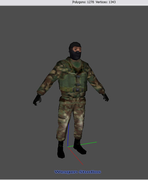 3d soldier gamestudio boned model