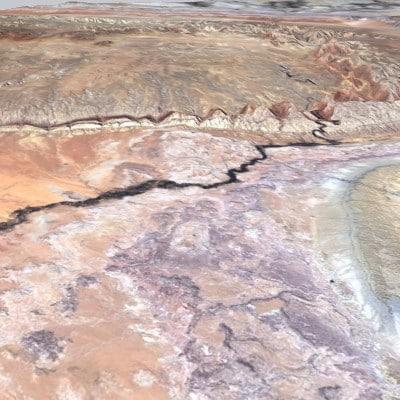resolution desert rivers mountains 3d dxf