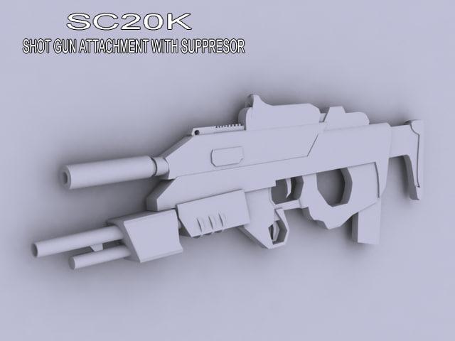 stealth gun 3d model