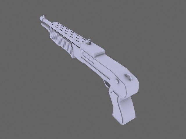 s 12 shotgun 3d model