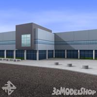 3dsmax modern office building