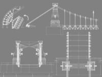 3d model grunwaldzki bridge