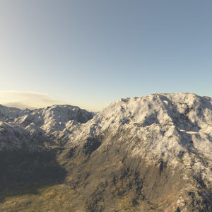 3d alps mountain terrain