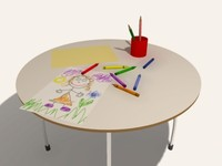 3d kids table