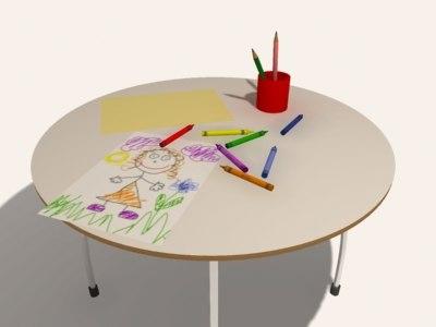 3d kids table