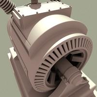 3d electrical generator model
