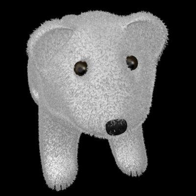 3d stuffed animal model