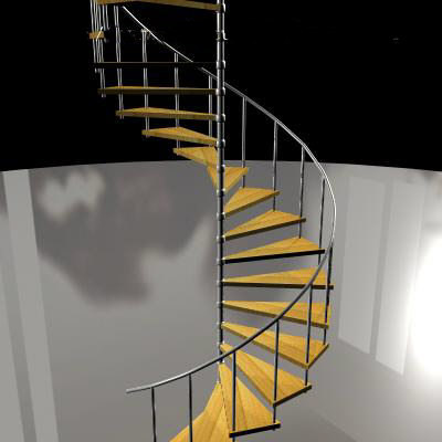 3d model of spiral staircase