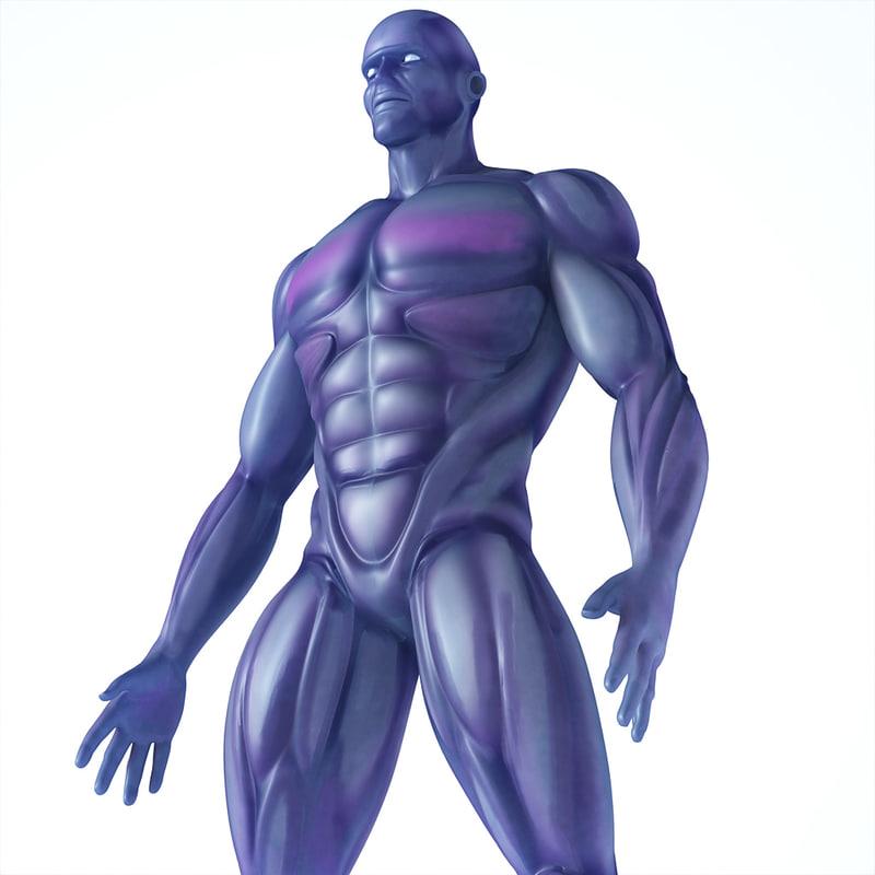 3d character human male model