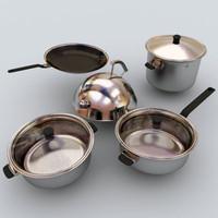 pots kettle 3d model