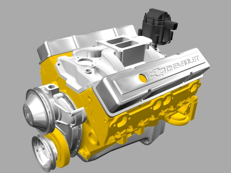 3d model chevrolet engine