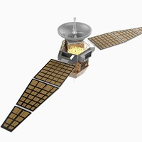 communications satellite 3d model