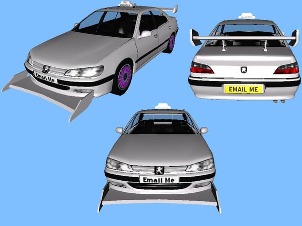 peugeot taxi 3d model