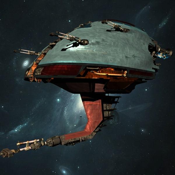 alien space war ship 3d max