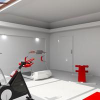 3d fit gym model