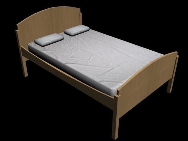 3dsmax wooden bed