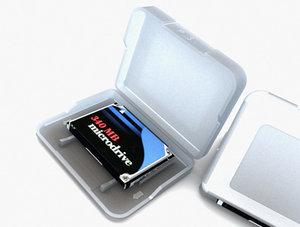 compact flash type-ii storage 3d model