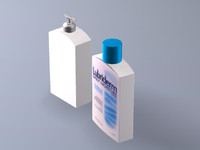3ds max hand lotion bottles