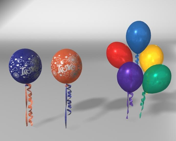balloons obj