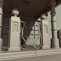 gas station pump 3d max