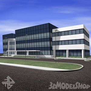 3ds modern office building