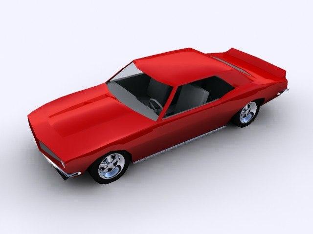 chevrolet camaro 1967 3d max