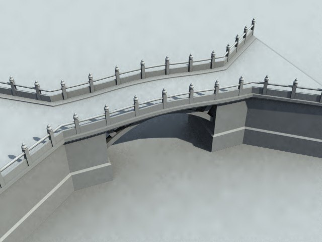 bridge chinese 3d model