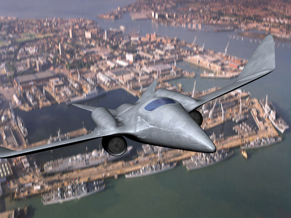 futuristic fighter 3d model
