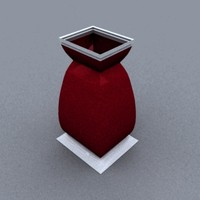 3d model multires square based vase