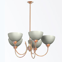 modern light chandelier alani 3d model