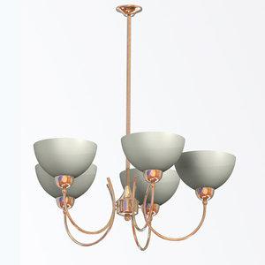 modern light chandelier alani 3d model