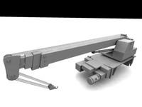 autocrane low-poly 3d model