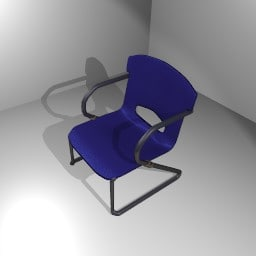 blue chair 3ds