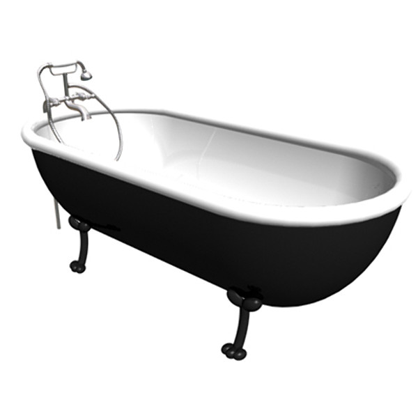 3d american epoque bath