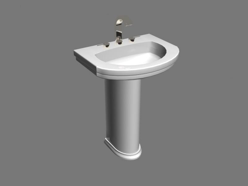 american calla pedestal sink 3d max