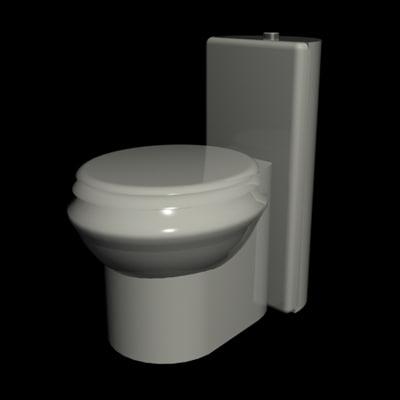 3d max american expressions toilet