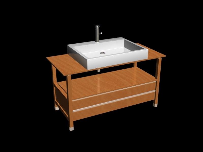 3d max sonia-system1200 vanity